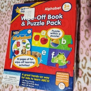 Active Minds Wipe-Off Book and Puzzle Pack